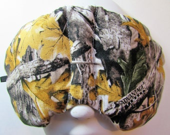 Herbal Hot/Cold Therapy Sleep Mask with adjustable and removable strap Tree Camo