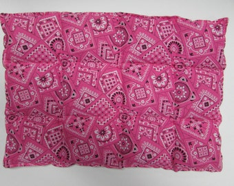 Hot/Cold Herbal Therapy Flax Seed Lumbar Pack Pink Bandana