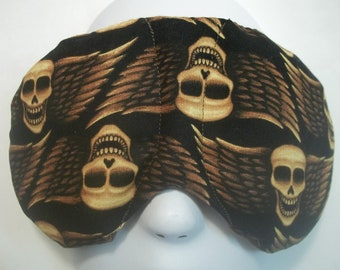 Herbal Hot/Cold Therapy Sleep Mask with adjustable and removable strap Skulls with Wings