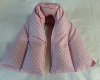 Hot/ Cold Herbal Therapy Neck, Knee and Ankle Wrap Pink Polka Dots