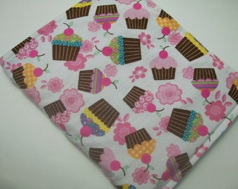 Hot/Cold Herbal Therapy Flax Seed  Heating Pad & Cupcakes Cover