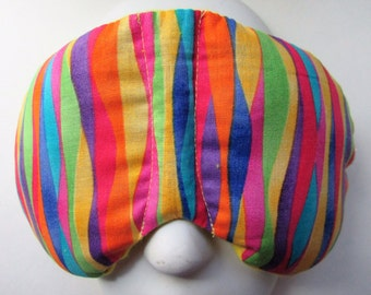 Herbal Hot/Cold Therapy Sleep Mask with adjustable and removable strap Rainbow