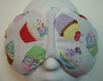 Herbal Hot/Cold Therapy Sleep Mask with adjustable and removable strap Yummy Cupcakes