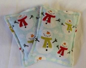 Toasty Flannel Hand Pocket Warmers Snowmen