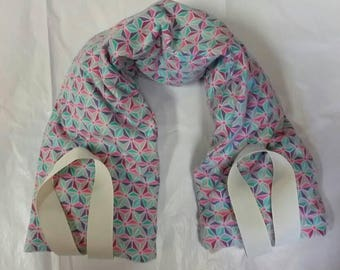 Hot/Cold Therapy Neck Wrap with straps and washable cover Geo design