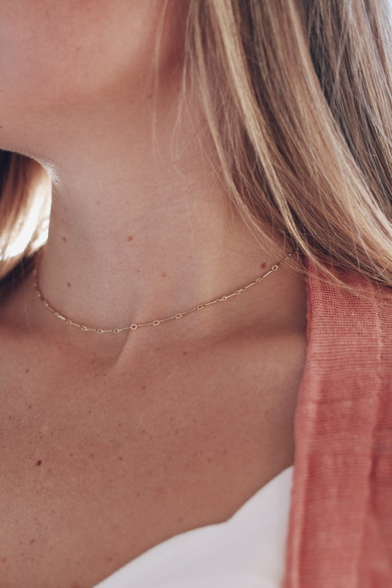 The Charlotte // dainty gold choker