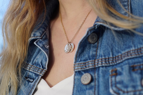 the maddie // coins mother's necklace // gold, silver or rose gold