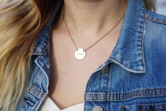 mama gold coin necklace