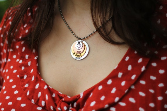 Mother's Necklace // Grandma Gift  //  Nana Keepsake