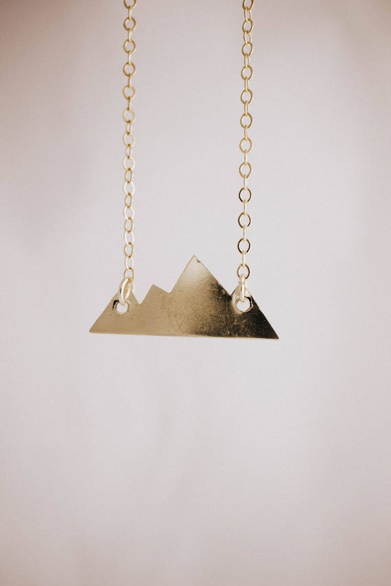 mountain vibes // brass necklace // handmade