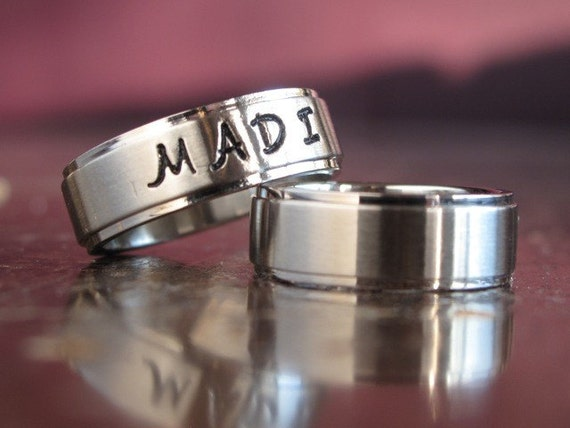 Hand Stamped Personalized Ring Stainless Steel (FREE SHIPPING)