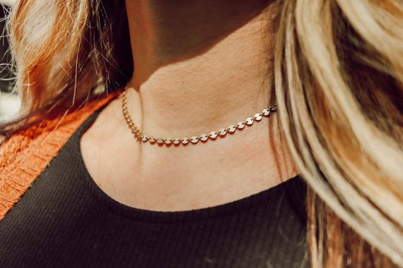 The Dottie Gold Choker Necklace