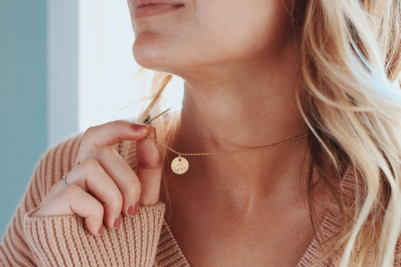 the Haley // gold coin necklace