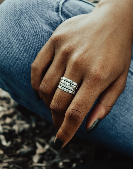 Stacking rings // sterling silver // mother's ring // personalized