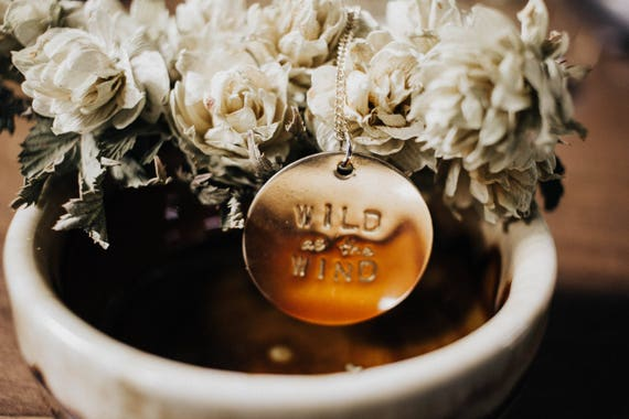 wild as the wind // brass coin necklace