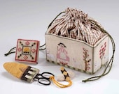 Mary 39 s Etui and Accessories Retired Teaching Piece designed by Dames of the Needle Finger Work