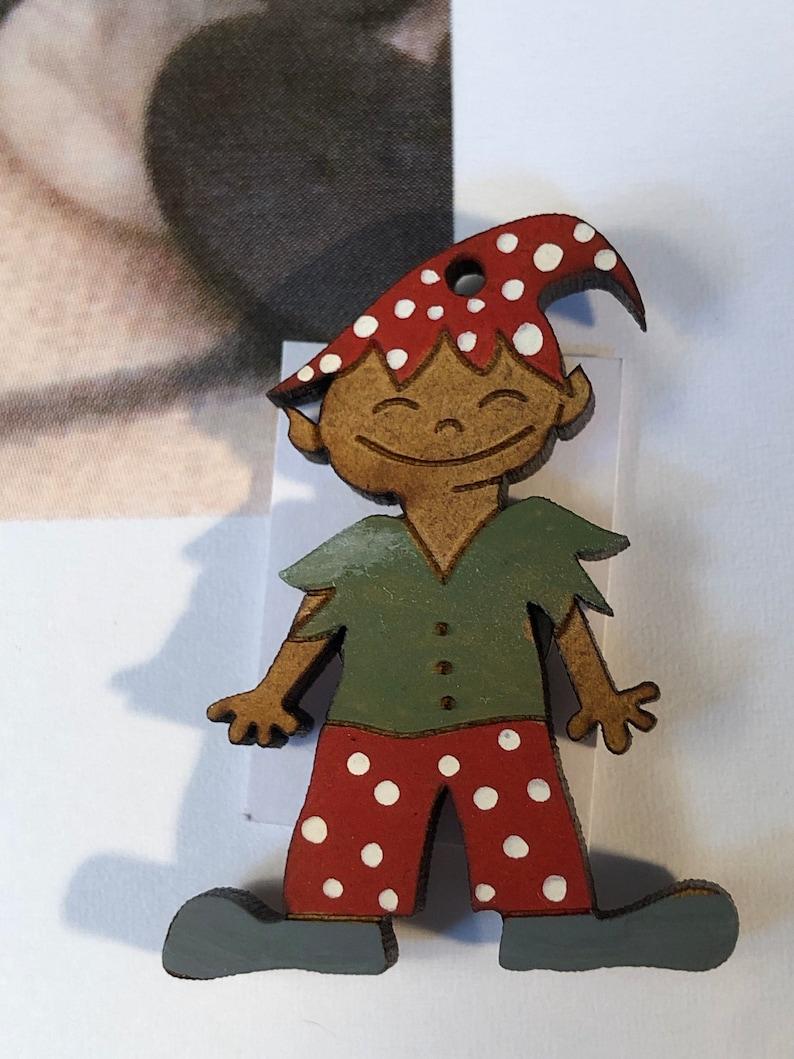 Elf House Scissors Case with wooden Elf Scissor Fob by Romina Petrucci Romy\u2019s Creations