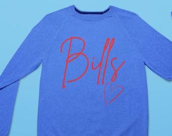 Women's Buffalo Bills Unisex Raglan Sweatshirt