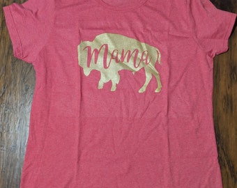 T shirt Mama Buffalo Bills Bison Colorado University UB Mom Mama Bear