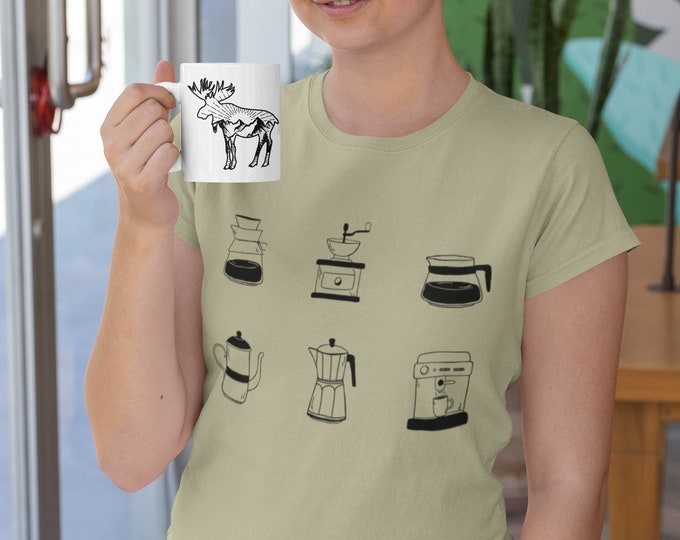 Coffee Raglan t shirt - Blush