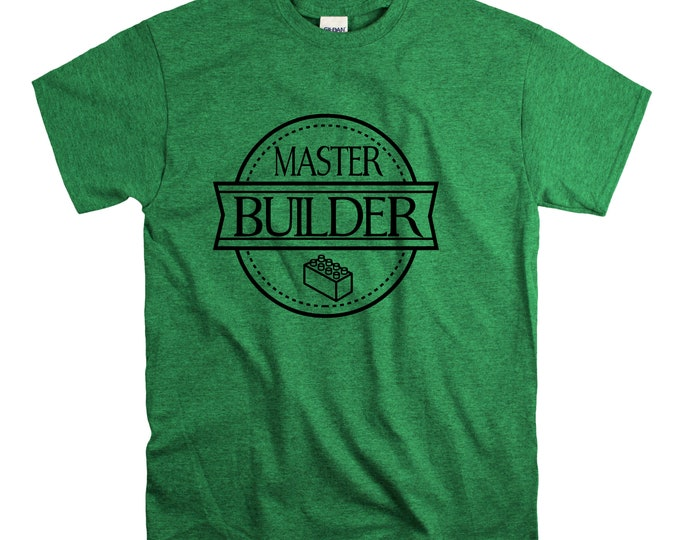 Master Builder T Shirt Kids Toddlers Unisex build Destroy Brick Land Building Vacation Family