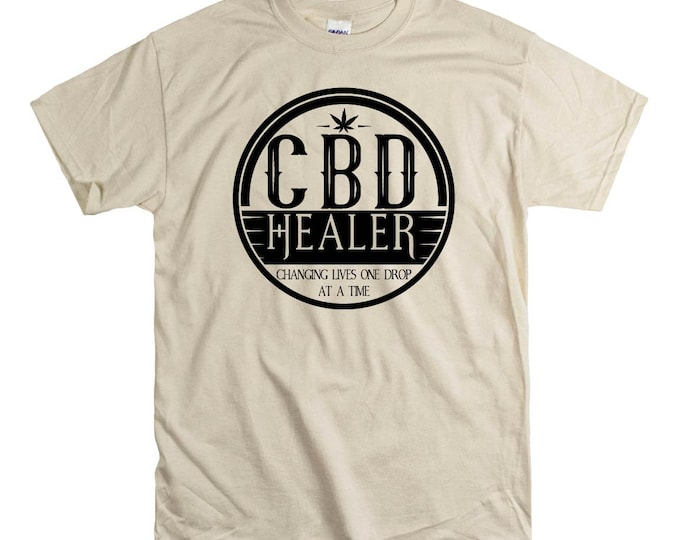 Hemp Healer  Unisex fit Tee CBD Oil Pain Anxiety Hempworx Seller Cannabis Oil one Drop at a time Changing lives Heals Cannabidiol