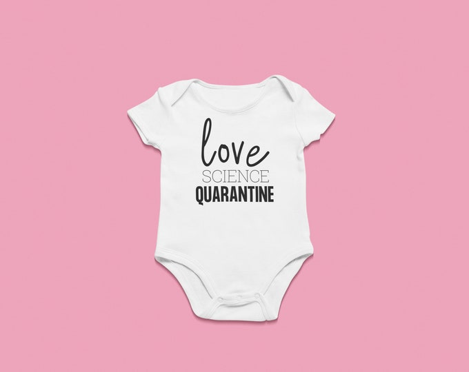 IVF Success Pregnancy Onesie Love Science quarantine Pandemic Baby Birth Photo prop Baby boom 2020