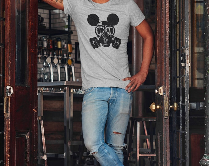 Mickey mousk Mask T Shirt Disney Vacation Respirator mask Shirt