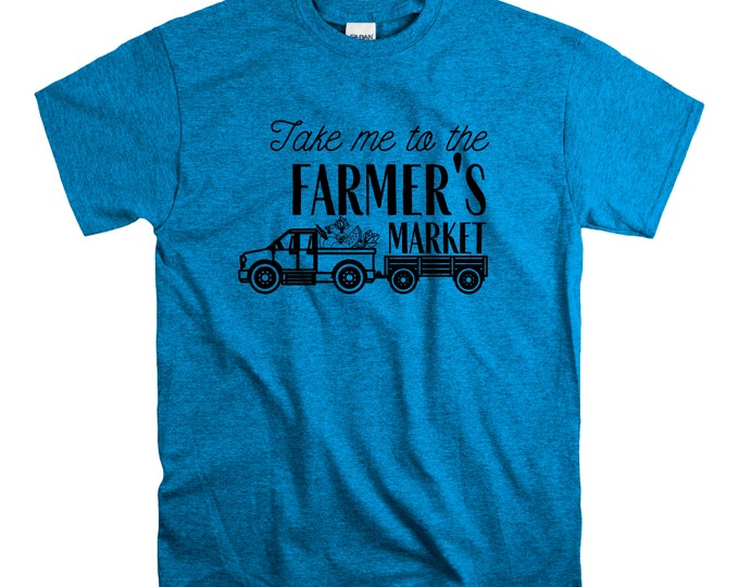 Take me to the Farmer's Market Women's Cut T Shirt Fitted Vegetables Produce vegetarian vegan farm Fruit Fresh