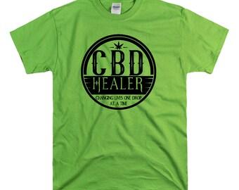 CBD Healer  Unisex fit Tee CBD Oil Pain Anxiety Hempworx Seller Cannabis Oil one Drop at a time Changing lives Heals Cannabidiol