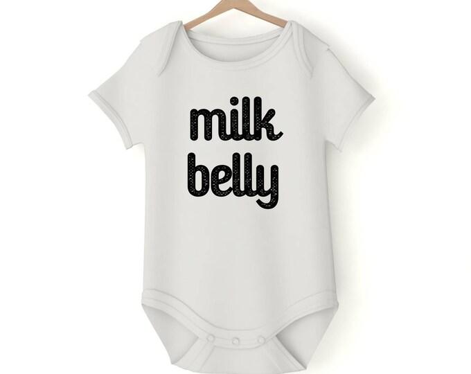 Milk belly Onesie various sizes GerberGift Baby Girl Boy Unisex Shower Neutral