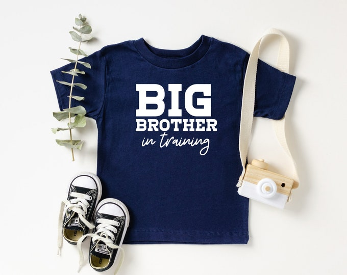Big Brother in Training Baby announcement t shirts big brother big brother in training photo prop siblings