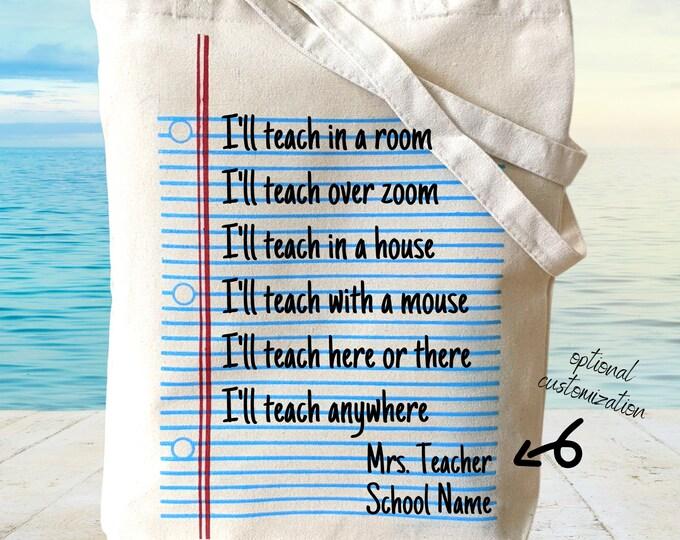 Zoom teaching tote bag