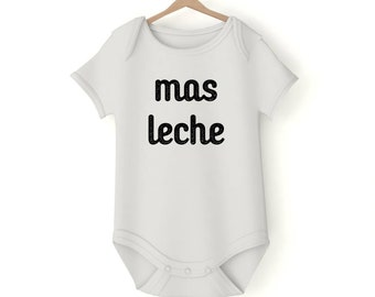 Mas leche Milk drunk Onesie various sizes GerberGift Baby Girl Boy Unisex Shower Neutral