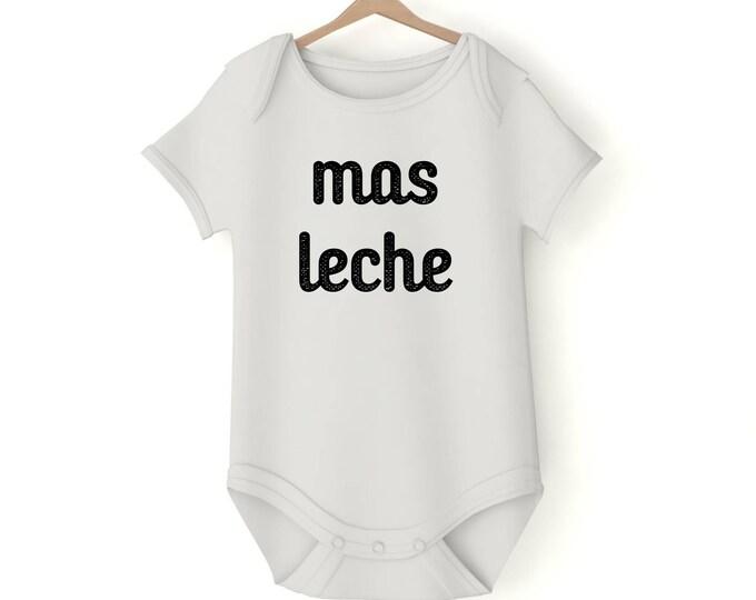 Mas leche Milk drunk Onesie various sizes GerberGift Baby Girl Boy Unisex Shower Neutral