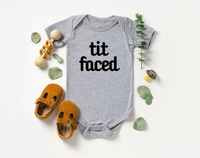 Tit faced Onesie various sizes Gerber Breastfeeding Breastfed baby breast milk