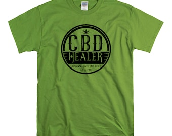 CBD Healer  Unisex fit Tee CBD Oil Pain Anxiety Hempworx Seller Cannabis Oil one Drop at a time Changing lives Heals Cannabidiol