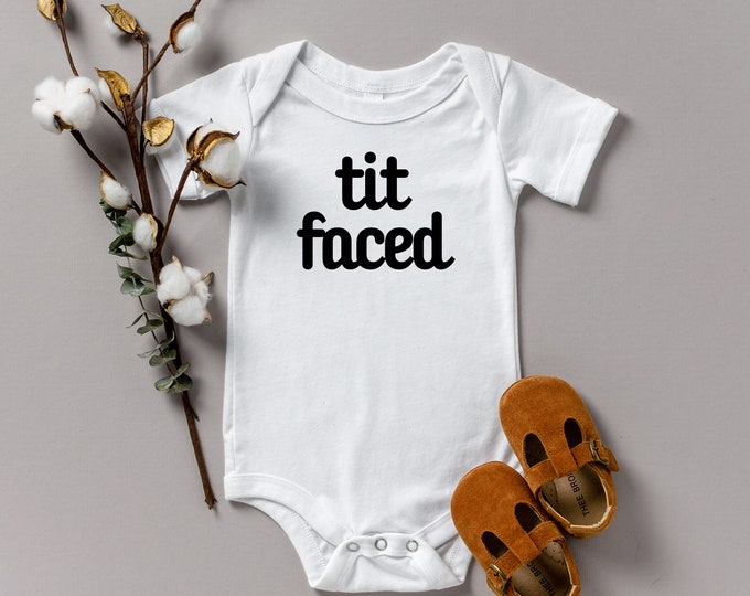 Tit faced Onesie various sizes Gerber Breastfeeding Breastfed baby breast milk