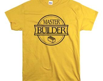 Master Builder T Shirt Kids Toddlers Unisex build Destroy Brick Land Building Vacation Family