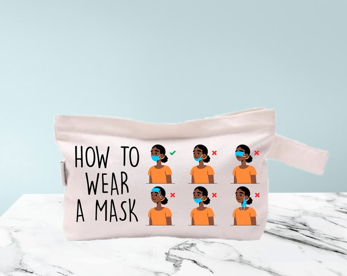 Dirty Masks bag Clean Masks Bag cosmetic bag storage makeup organizer bath and beauty bag purse carry all mask covid disposable mask