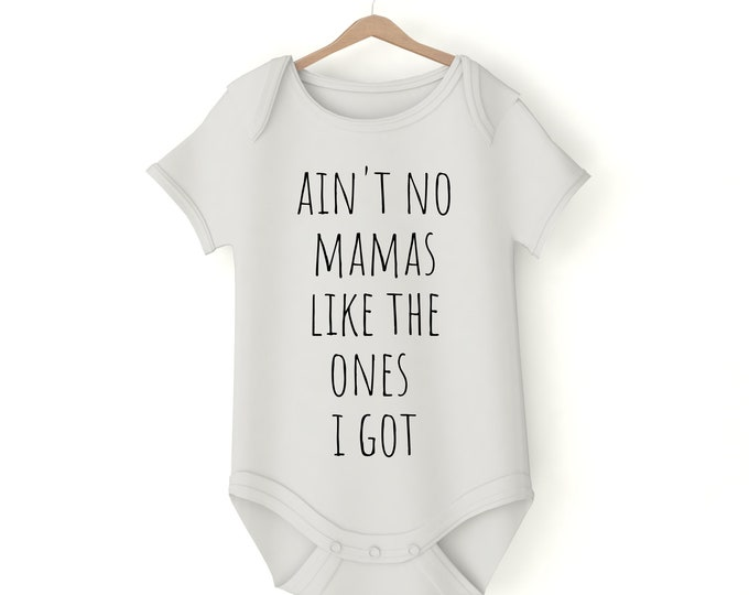 Ain't no Mama's Like the Ones I Got various sizes custom text Pregnancy Announcement Newborn Photos Baby gift Birthday gay parents LGBTQ