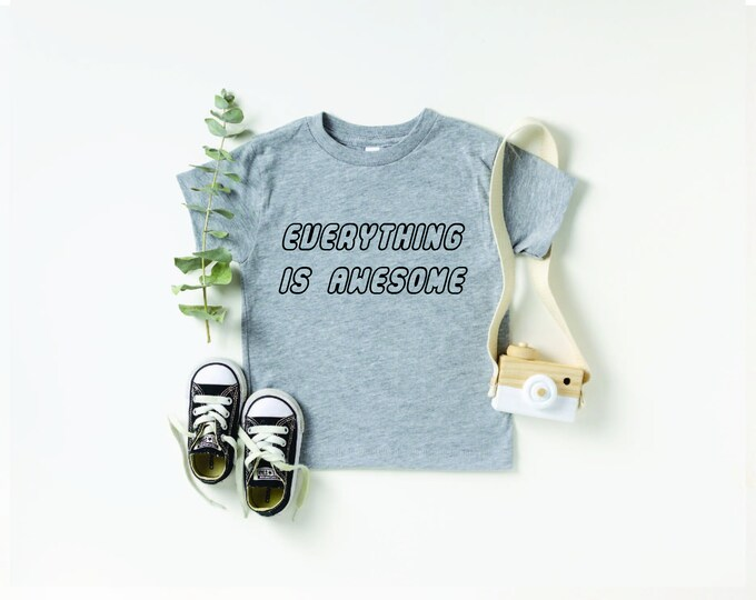 Everything is awesome T Shirt Relaxed Fit Unisex Fit Women's Fit build Destroy Brick Land Building Vacation Family