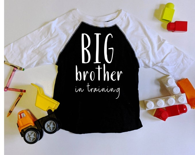 Big Brother in Training Baby announcement t shirts big brother big brother in training photo prop siblings baseball ter
