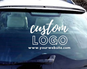 Decal lettering logo sign truck window front door wall decal