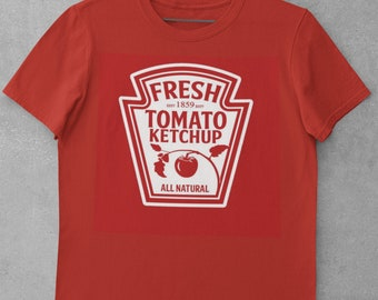 Ketchup Mustard Relish Mayo Ranch Red Hot Condiments Group School Work Family Easy Work Appropriate T Shirt Costume