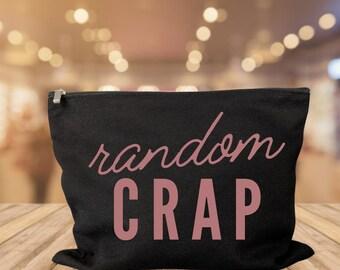 Random Crap makeup bag cosmetic bag storage makeup organizer bath and beauty bag purse carry all