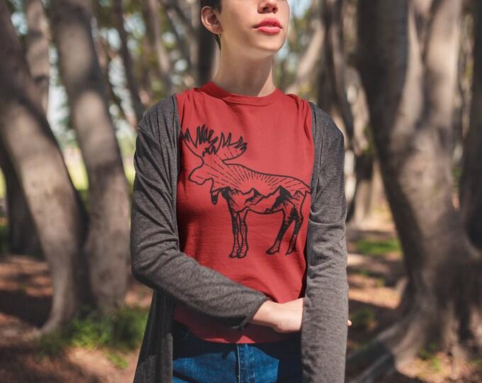 Moose mountains women's fit tee shirt