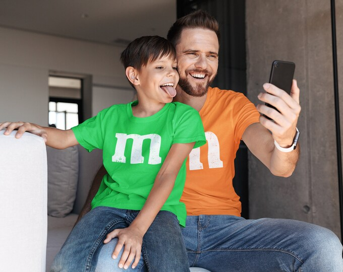 M&M T Shirt Halloween Costume M and Ms group School work Family easy Work appropriate T shirt costume