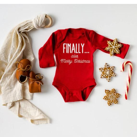 Finally...pregnancy announcement bodysuit Christmas Adoption