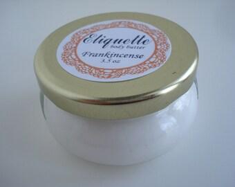 Frankincense body Butter 3.5 oz jar warm and sensual hand lotion moisturizer paraben free vegan friendly